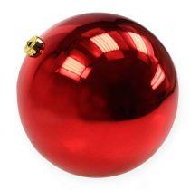 Kerstbal kunststof groot rood Ø25cm