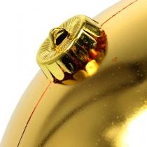 Kerstbal medium goud 20cm kunststof