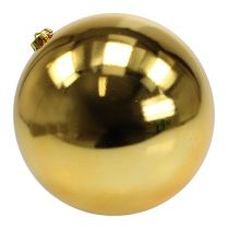 Kerstbal kunststof groot goud Ø25cm