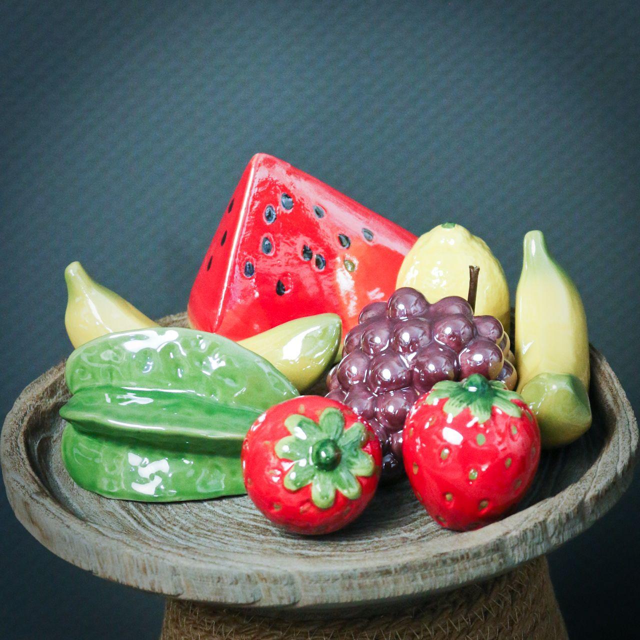 Meloenplak keramiek 12cm 3st