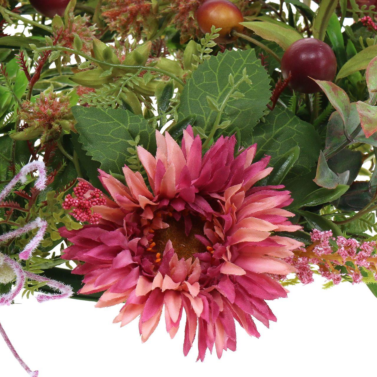 Herfstkrans chrysanthemum paars Ø30cm