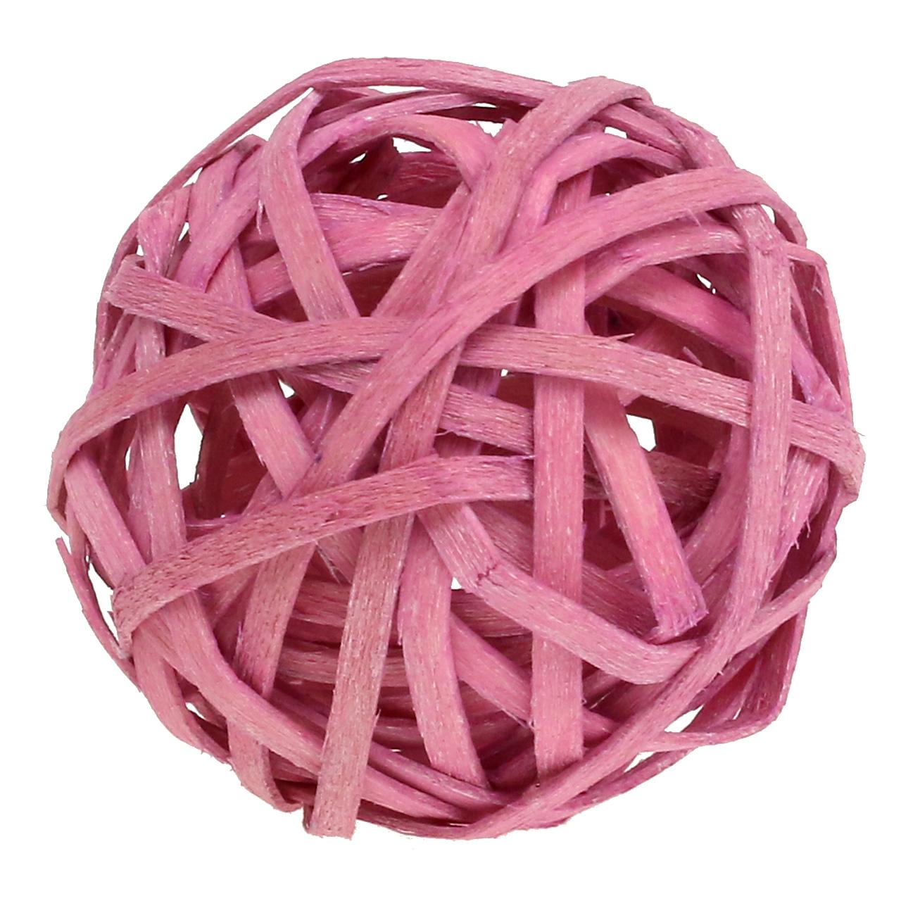 Rotan bal roze Ø4cm 12st