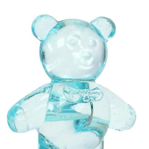 Tafeldecoratie voor de geboorte beer blauw 3.5cm 60st