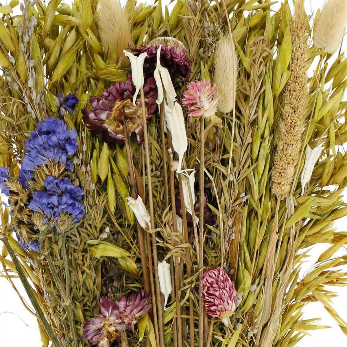 Droogbloemen boeket naturel roze 45cm