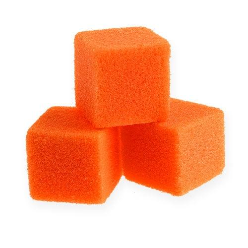 Natte schuim mini-blokjes oranje 300p