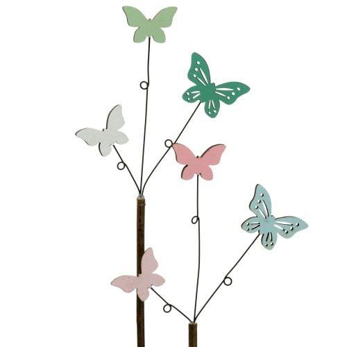 Decoratieve plug vlinder H43cm 6st