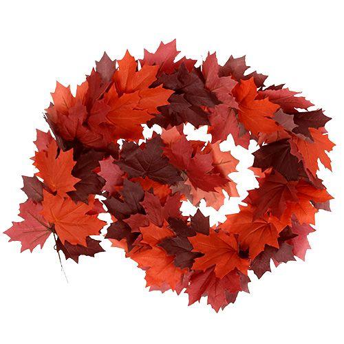 Maple guirlande rood-oranje 170cm