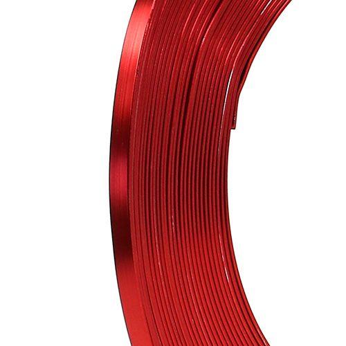 Aluminium platte draad rood 5mm 10m