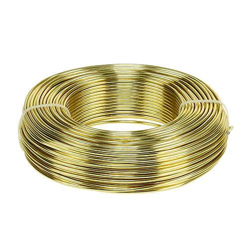 Aluminium draad Ø2mm 500g 60m goud