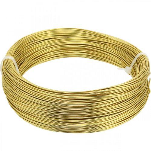 Aluminiumdraad Ø1mm goud decoratiedraad rond 120g