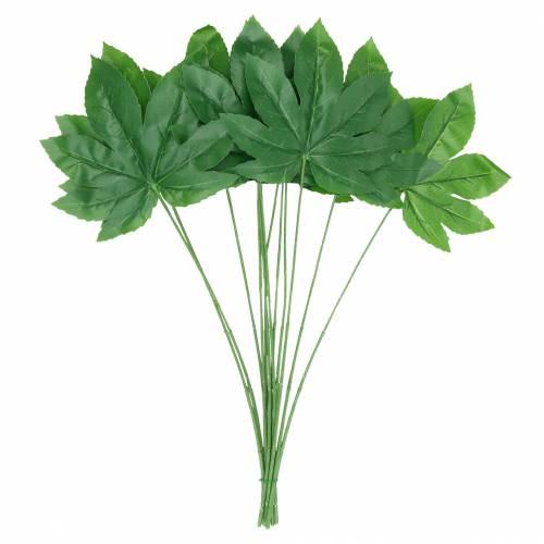 Aralia blad met steel groen L61.5cm 12st