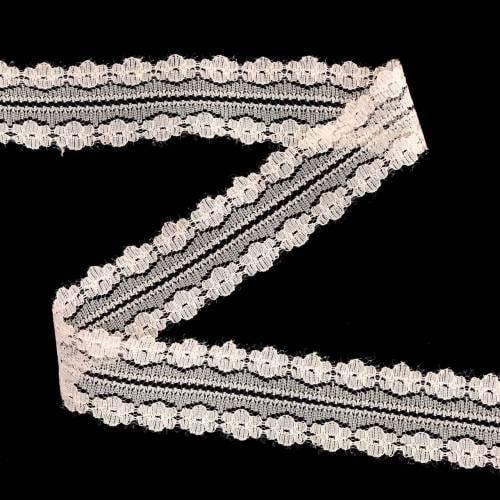 Kanten lint decoratief lint roze 20m 3cm wikkel geschenken