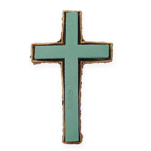 Steekschuim kruis groot groen 53cm 2 stuks graf sieraden