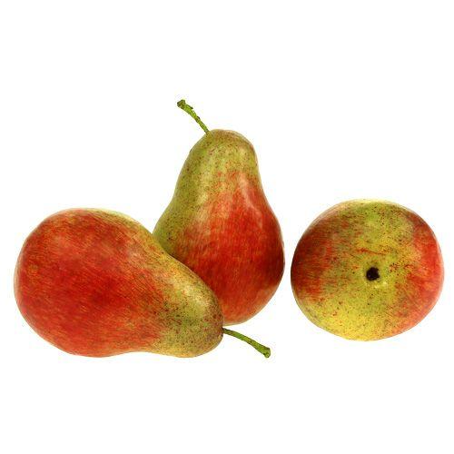 Peer rood, groen 11cm - 12cm 3st