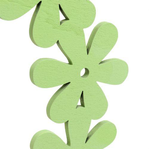 Bloem krans hout in groen Ø35cm 1p