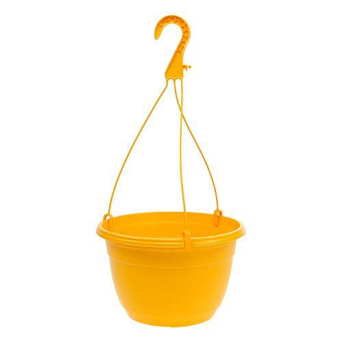 Bloemenmand 25cm geel