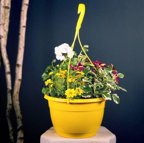 Bloemenmand 25cm lila