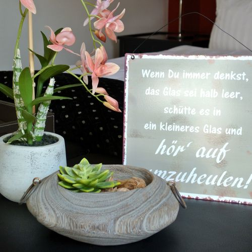 Decoratieve schaal Paulownia hout 23cm x 21cm H9cm