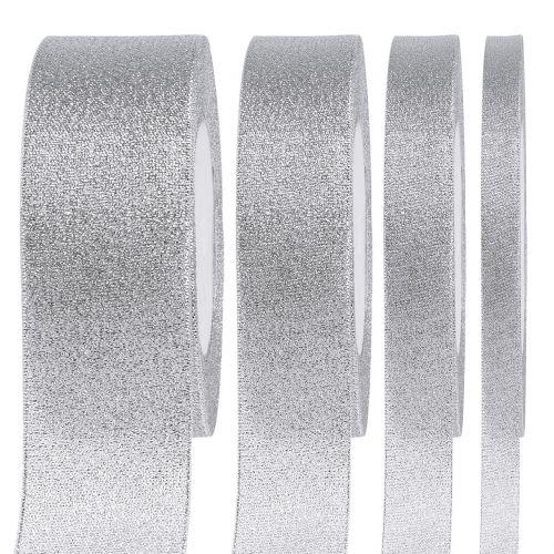Decoratief lint zilver verschillende breedtes 22,5m