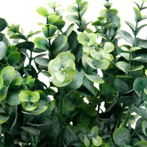 Decoratieve eucalyptustak donkergroen Kunstmatige eucalyptus Groene kunstplanten 6st