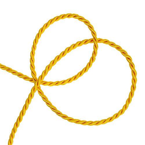 Decoratief koord in geel 4mm 25m