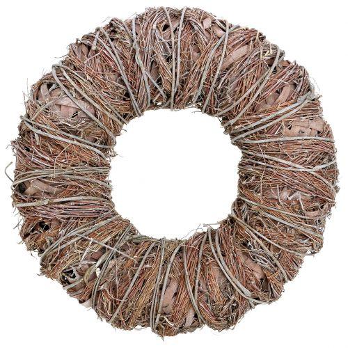 Sierkrans natuur Ø43cm gewassen wit