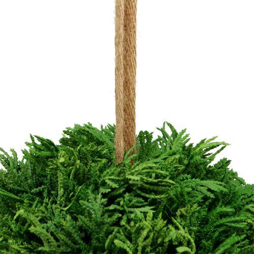 Kunstplantenbal om groen op te hangen Ø20cm