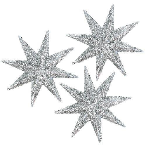 Decoratieve sterren zilver Ø5cm 20st