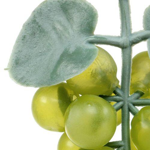 Decoratieve druiven klein groen 10cm