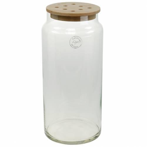 Decoratieve vaas met gaatjes Glazen vaas met geperforeerd deksel Moderne bloemendecoratie