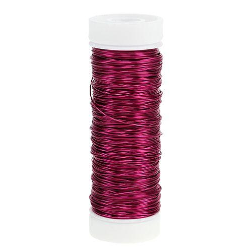 Decoratief lakdraad Ø0.30mm 30g / 50m roze