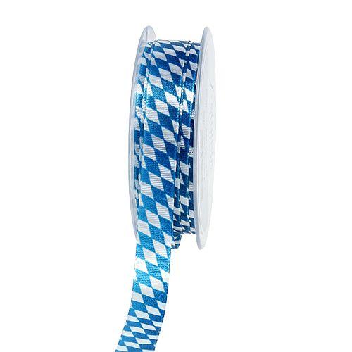 Decoratief lint blauw-wit 15mm 20m
