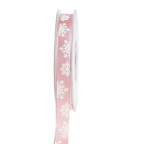 Decoratietape met draadrand roze 15mm 20m