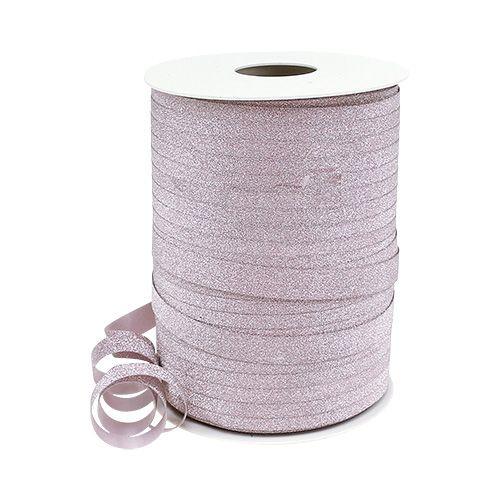 Decoratieve tape met mica pink 10mm 150m