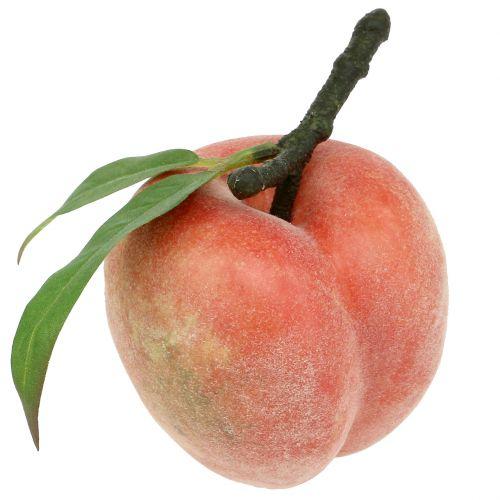 Decoratief fruit perzik roze Ø8cm L10cm 4st