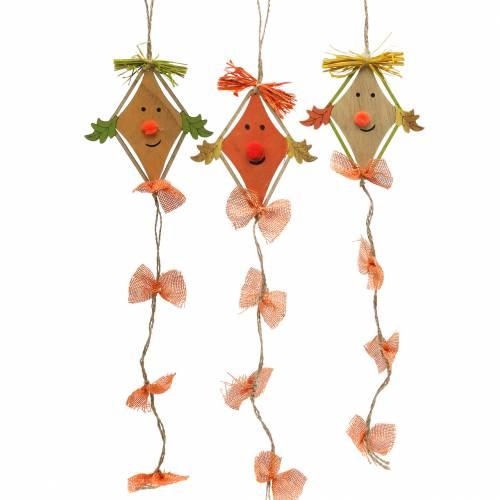 Herfstdecoratie draak om op te hangen 10,5cm x 11cm 6st