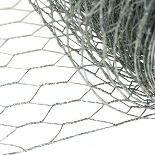 Zeshoekig gevlochten draad, zilver gegalvaniseerd, konijnendraad 50cm × 10m