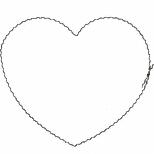 Draadharten 20cm golfringen kransringen hart 10st