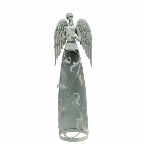 Decoratieve engel metaal 58cm
