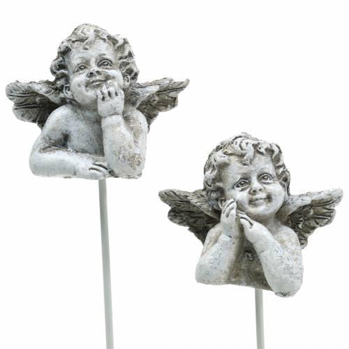 Ernstige sieraden decoratieve plug engel 3,5 cm 8st