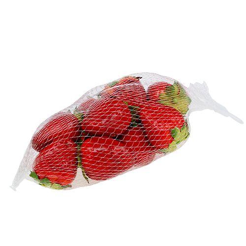 Aardbei rood 5cm in een net 12st