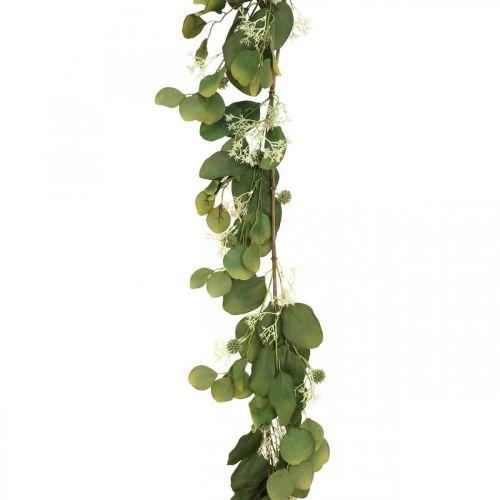 Kunst eucalyptus slinger met distels herfstdecoratie 150cm