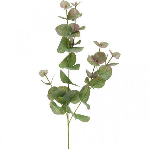 Eucalyptus kunsttak deco groene plant groen, roze 75cm