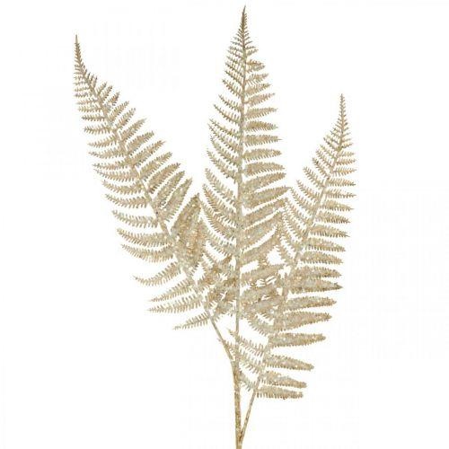 Decoratieve varen kunstplant goud, glitter kerstdecoratie 74cm