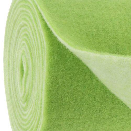 Viltlint 15 cm x 5 m tweekleurig groen, wit