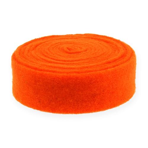 Viltlint oranje 7,5cm 5m
