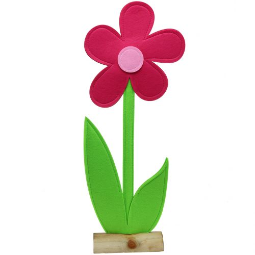 Vilt bloem roze 120cm