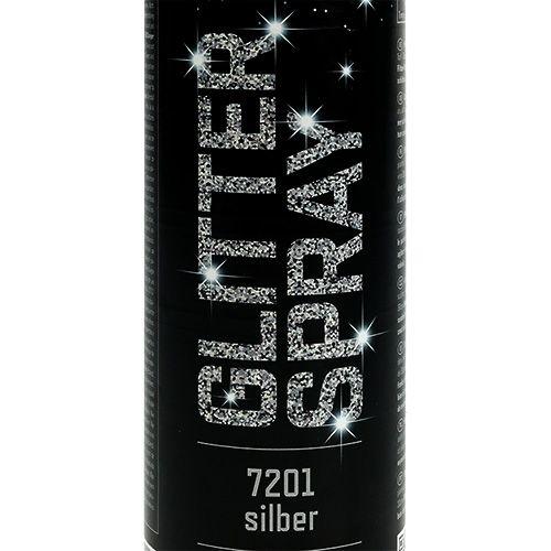 Glitterspray zilver 400ml