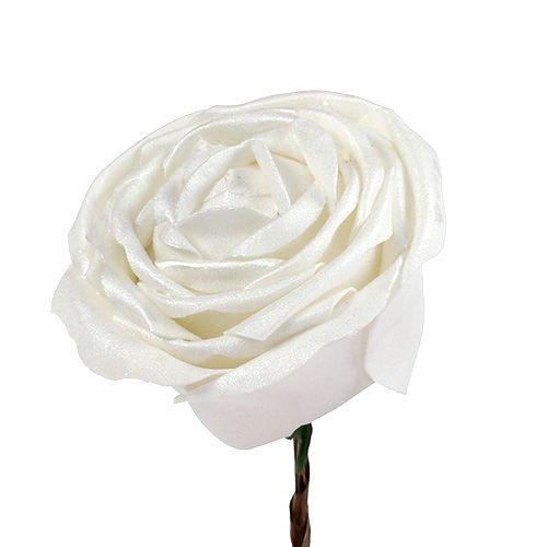 Schuim rose wit met parelmoer Ø10cm 6st