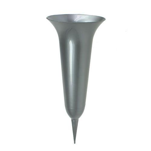 Grafvaas zilver 40cm